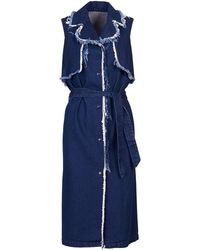 Acephala - Dark Blue Denim Dress - Lyst