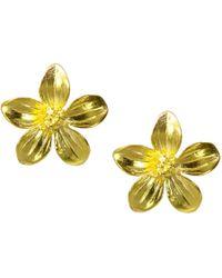 Ottoman Hands - Daisy Gold Flower Stud Earrings - Lyst