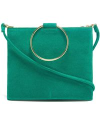 Thacker NYC - Le Pouch In Vert Suede - Lyst