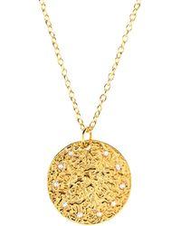 LÁTELITA London - Cosmic Full Moon Necklace Gold - Lyst