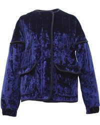 TOMCSANYI - Rozsi Quilted Velvet Zip-up Jacket - Lyst