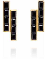 Neola - Equilibrium Gold Earrings With Black Onyx - Lyst