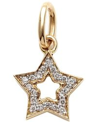 Kaizarin Diamond Studded Super Star Pendant In Yellow Gold