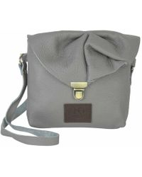 N'damus London - Emily Rose Mini Grey Leather Crossbody Bag - Lyst