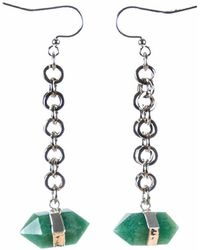 Tiana Jewel - Goddess Green Quartz Earrings - Lyst