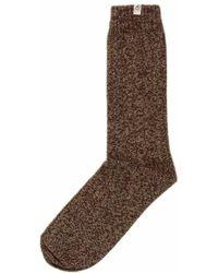 40 Colori - Beige Melange Thick Ribbed Organic Cotton Socks - Lyst
