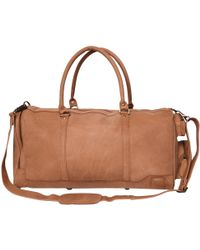 MAHI - Leather Columbus Holdall/duffle Weekend/overnight Bag In Vintage Cognac - Lyst