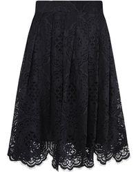 Jelena Bin Drai   Spanish Black Lace Box Pleated Skirt   Lyst