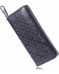 Drew Lennox - Luxury English Leather Ladies 12 Card Zip Around Purse & Wallet In Verglas Black - Lyst