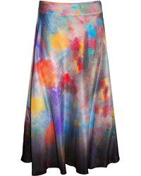 Klements - Eglantine Skirt In Painters Print - Lyst