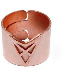 Dutch Basics - The Hef Adjustable Broad Ring Rose Gold - Lyst