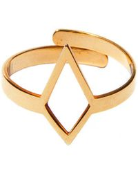 Dutch Basics - Ruit Adjustable Knuckle Ring Small Gold - Lyst