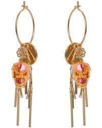 Nadia Minkoff - Skull Cluster Earring Tangerine - Lyst