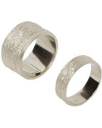 Eshvi - Set Of Two Rings - Lyst