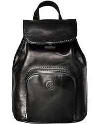 Maxwell Scott Bags | Luxury Italian Leather Ladies Small Rucksack Popolo Black | Lyst