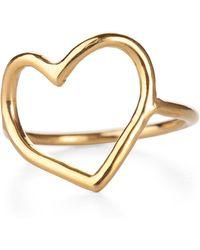 Chupi - My Heart Is Open Ring Gold - Lyst