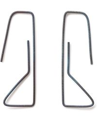 Elsa - Geoneo Titanium Paperclip Earrings - Lyst