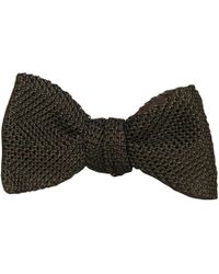 40 Colori - Dark Brown Knitted & Woven Silk Butterfly Bow Tie - Lyst