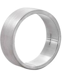 Edge Only - Flat Matt Men's Ring In Silver - Lyst