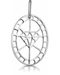 One and One Studio - Sterling Silver Diamond Shape Cut Out Pendant - Lyst