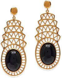 Alexandra Alberta - Khrysler Black Onyx Earrings - Lyst