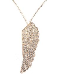 LÁTELITA London - Angel Wing Necklace Rosegold - Lyst