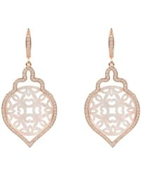 LÁTELITA London - Rosegold Carved Teardrop Pearl Earring White Mother Of Pearl - Lyst