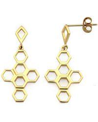 Monarc Jewellery | The Vita Hive Earrings 9ct Gold | Lyst
