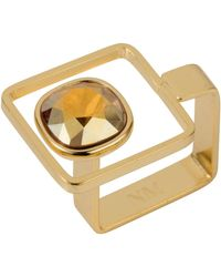 Nadia Minkoff - Square Frame Ring Golden Shadow - Lyst