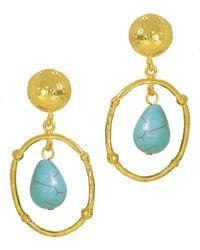 Ottoman Hands - Bygone Turquoise Drop Earrings - Lyst