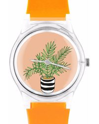 May28th - 05:50pm Orange Watch With Plants - Lyst