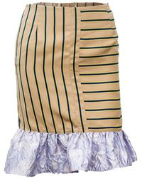 741e6ab80 Vivienne Hu - Pinstripe Bubble Skirt With Ruffle Detail - Lyst