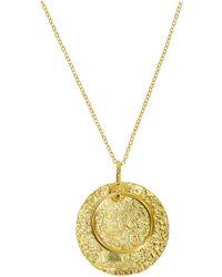 Ottoman Hands - Nubia Gold Medallion Pendant - Lyst