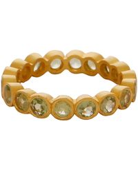 Carousel Jewels - Peridot Stones Delicate Band - Lyst
