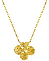 Ottoman Hands - Air Symbol Gold Necklace - Lyst