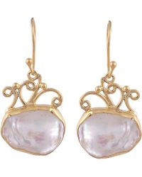 Carousel Jewels - Delicate Vermeil Natural Drop Earrings - Lyst