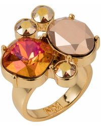 Nadia Minkoff - Yellow Gold Plated Magma Kate Cocktail Ring - Lyst