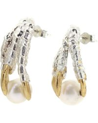 Tessa Metcalfe - Pearl Of London Earrings Silver - Lyst