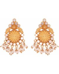Carousel Jewels - Intricate Pearl And Crystal Clustered Earrings - Lyst