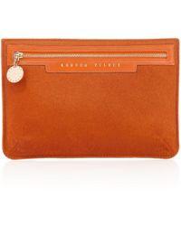 London Velvet - Siena Orange Zipper - Lyst