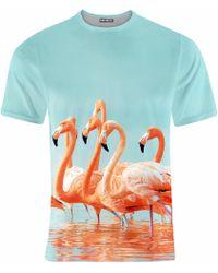 Aloha From Deer - Flamingos T-shirt - Lyst