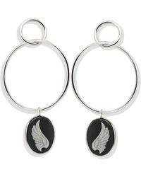 Vintouch Italy - Wings Hoop Earrings - Lyst