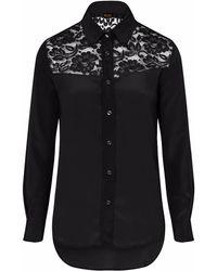 Sophie Cameron Davies - Black Classic Silk Shirt - Lyst