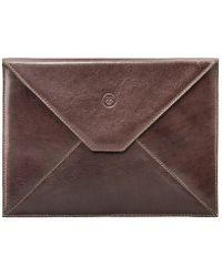 Maxwell Scott Bags - Luxury Tan Brown Leather Ipad Envelope Case Ettore - Lyst
