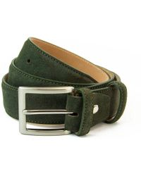 40 Colori - Olive Green Trento Leather Belt - Lyst