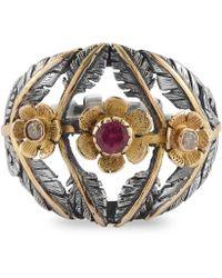 Emma Chapman Jewels - Flower Bomb Tourmaline Diamond Ring - Lyst