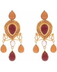 Carousel Jewels - Red Onyx & Carnelian Earrings - Lyst