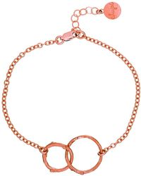 Chupi - Just The Two Of Us Hawthorn Twig Circle Bracelet In Rose Gold - Lyst
