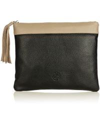 Nadia Minkoff - The Pimlico Block Colour Clutch Bag Black Beige - Lyst