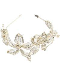 Colette Malouf | Mesh Diamond Botanical Headband | Lyst